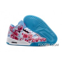 2016 Girls Air Jordan 3 School Season Pink Blue White Shoes Online