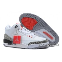 Online Air Jordans 3 Retro '88 White/Fire Red-Cement Grey-Black