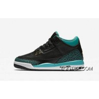 "Womens ""Rio Teal"" Air Jordan 3 GS Black/Metallic Gold-Rio Teal-White New Style WGhGD4"
