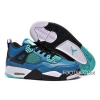 "Best Air Jordans 4 Retro ""Teaser"" Teal/Black-White"