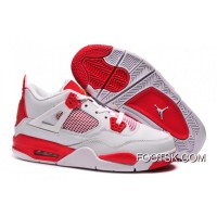 "Air Jordans 4 Retro ""Melo"" PE White Red Cheap To Buy"