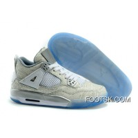 "2015 ""Laser"" Air Jordan 4 White/Chrome-Metallic Silver Best Ene4mb"
