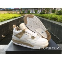 Air Jordan 4 GS Linen White/Boarder Blue-Light Sand Online WATt4wN