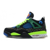 """Superman"" Air Jordan 4 Black/Old Royal-Electric Green-White Authentic 8BrX5N"