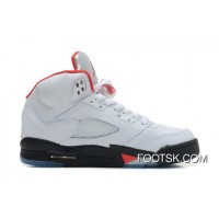 Air Jordans 5 Retro White/Black-Fire Red Copuon Code