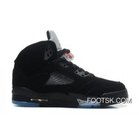 Air Jordans 5 Retro Black/Varsity Red-Metallic Silver For Sale