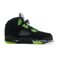 "Air Jordans 5 Retro ""Quai 54″ Black/Radiant Green Super Deals"