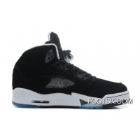 "Air Jordans 5 Retro ""Oreo"" Black/Cool Grey-White Cheap To Buy"