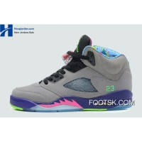 "2013 ""Bel-Air"" Air Jordan 5 Cool Grey/Court Purple-Game Royal-Club Pink New Style MRT8z"
