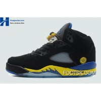 "2013 ""Shanghai Shen"" Air Jordan 5 Black/Varsity Maize-Varsity Royal Super Deals 4mwyjsX"