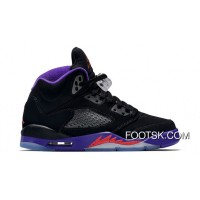 "2016 ""Raptors"" Air Jordan 5 GS Black/Ember Glow-Fierce Purple Top Deals Bb6e5S"
