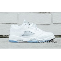 Air Jordan 5 Low GS White/Black-Wolf Grey Discount TKyQbkR