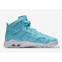 "Air Jordan 6 GS ""Still Blue"" Free Shipping"