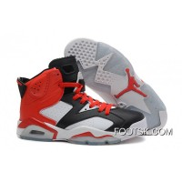 Air Jordans 6 Retro Black White Red New Style