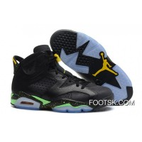 "Air Jordans 6 Retro "" World Cup"" Black/Light Lucid Green-Tour Yellow Lastest"