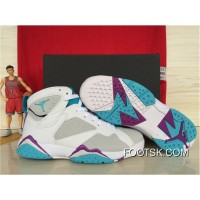 Best Girls Air Jordan 7 Retro Neutral Grey/Mineral Blue