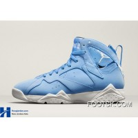 """UNC"" Air Jordan 7 University Blue/White-Black Authentic D3biGN"