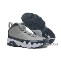 Air Jordans 9 Retro Medium Grey/Cool Grey-White Authentic