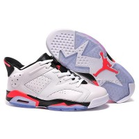 Air Jordan 6 Low White Infrared 23 Black GS July 4th 2015 For Sale