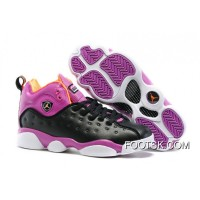 Jordan Jumpman Team 2 GS Black/Hyper Orange-Purple Dusk-White Excusive Colorways Authentic