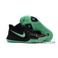 Girls Nike Kyrie 3 Black Grass Green New Style