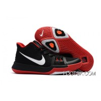 Girls Nike Kyrie 3 Black Red White Copuon Code