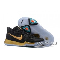 Nike Kyrie 3 GS Black Gold Online TBW6TRE