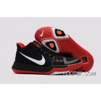 Nike Kyrie 3 GS Black Red White Super Deals XcTx6Ya