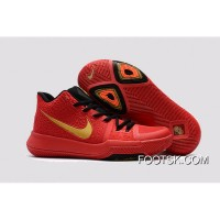 Nike Kyrie 3 GSRed Black Gold Authentic BnJhwRP