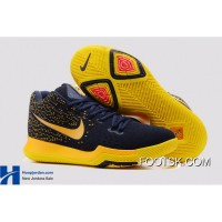 Nike Kyrie 3 GS Cavs Deep Blue Yellow PE New Release ZcAMQ
