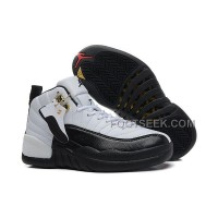Girls Air JD 12 GS White Black For Womens Cheap Online Sale New Arrival