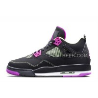 Girls Air JD 4 Retro GS Black/Fuchsia Force-Flash Lime Cheap For Sale New Arrival