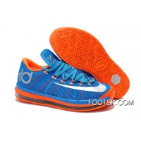Nike KD 6 VI Elite Photo Blue/Team Orange-Silver Authentic