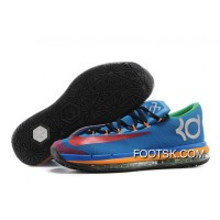 Nike KD 6 VI Elite Blue Red Yellow Online Copuon Code