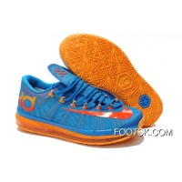"Super Deals Nike KD 6 VI Elite ""Team"" Photo Blue/Team Orange-Atomic Mango"