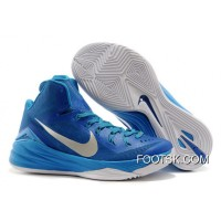 "Authentic Nike Hyperdunk 2014 ""Game Royal"" Blue Hero/Metallic Silver-White"
