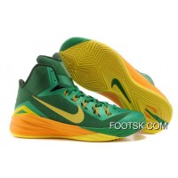 "Nike Hyperdunk 2014 ""Brazil"" Lucky Green/Sonic Yellow-Gorge Green New Release"