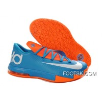 Girls Nike KD 6 Blue Orange White Top Deals