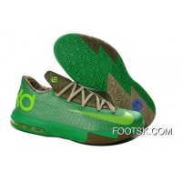 "Girls Nike KD 6 ""Bamboo"" Gamma Green/Flash Lime-Raw Umber-Linen-Deep Smoke Cheap To Buy"