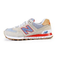 Hot 2016 New Balance 574 Women Beige