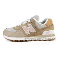 Hot 2016 New Balance 574 Women Tan
