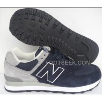 Hot New Balance 574 2016 Men Dark Blue Grey