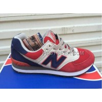 Hot New Balance 574 2016 Women Blue Red