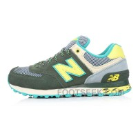 Hot New Balance 574 2016 Women Olive