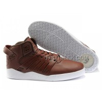 Hot Supra Skytop III Brown White Men's Shoes