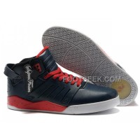 Hot Supra Skytop III Dark Blue Red Men's Shoes