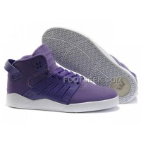 Hot Supra Skytop III Purple White Men's Shoes