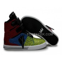 Hot Supra TK Society Yellow Blue Red Men's Shoes