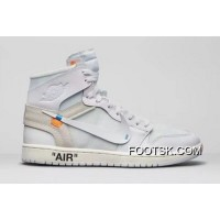 Air Jordan 1 Generation Off-white X 1 White Original Product No: Number 7 5 Aq0818-100-13 Yards Authentic