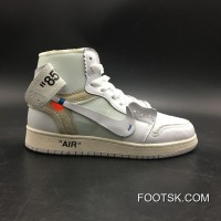 Air Jordan 1 Generation Off-white X 1 White Original Product No: Number 7 5 Aq0818-100-13 New Style
